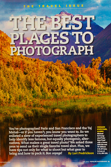 Rocky Mountain School of Photography Writes About Popular Photography Interview with Michael DeYoung
