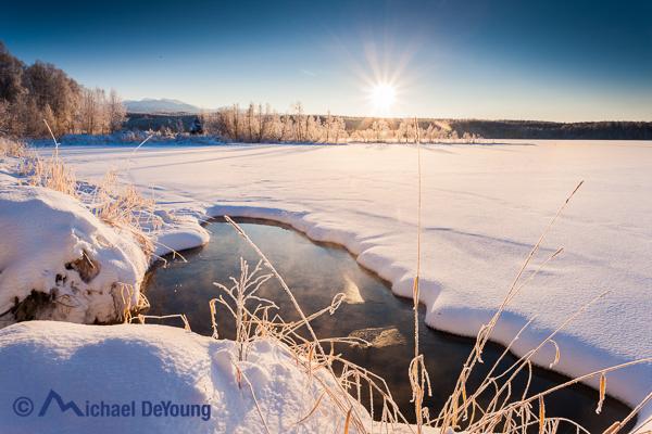 Winter scenic near Anchorage, Alaska