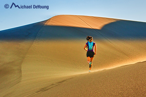 Runner on Great Sand Dunes, Colorado