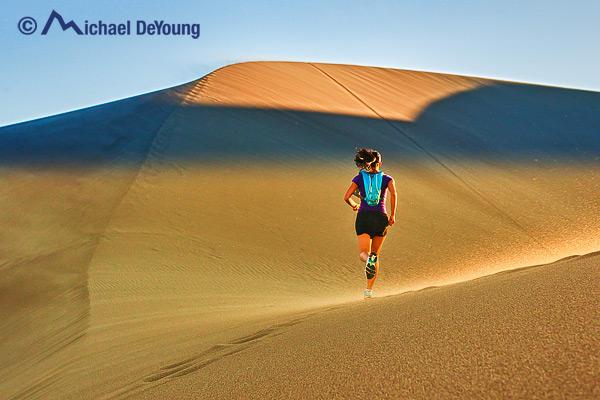 Runner on Great Sand Dunes, Colorado