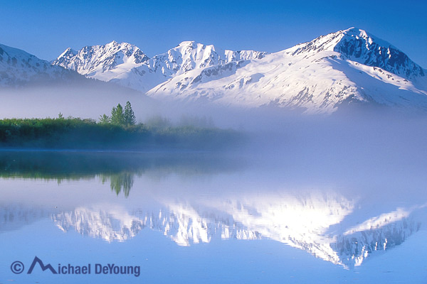Fog bank, Portage Valley, Alaska