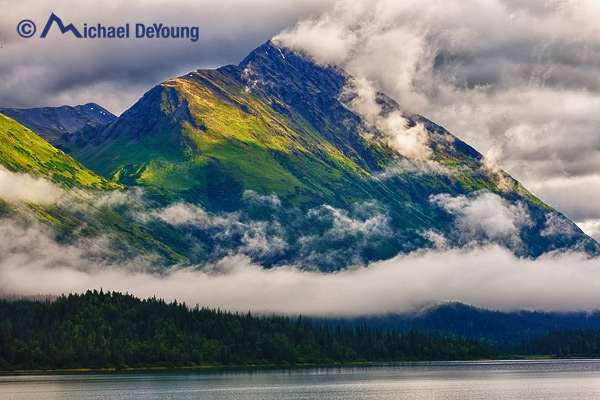stratus clouds and clearing storm, Trail Lakes, Alaska