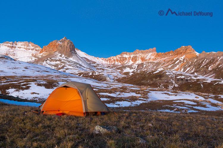 tent at Ice Lake Basin, Colorado