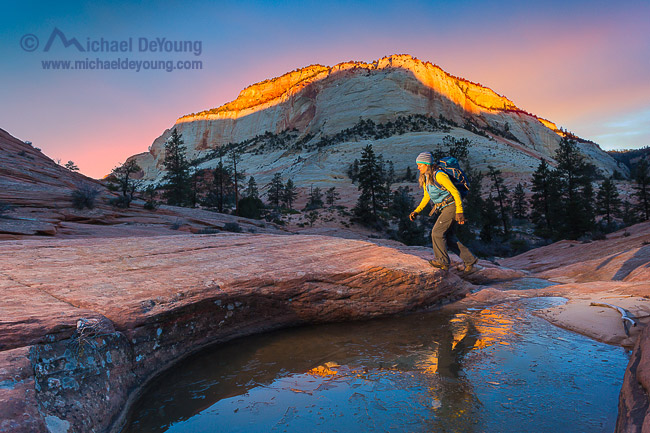 Sunrise Photography in the Zion Backcountry