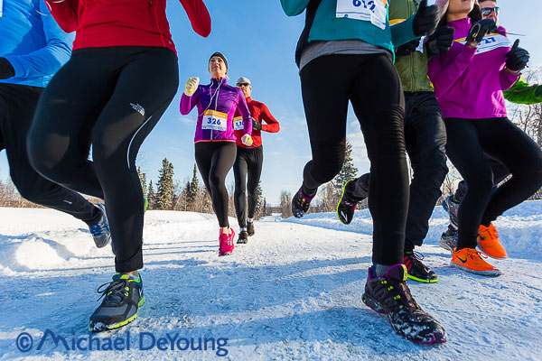 New Mexico Photographers Alaska Winter Lifestyle Photos - low level view of road race