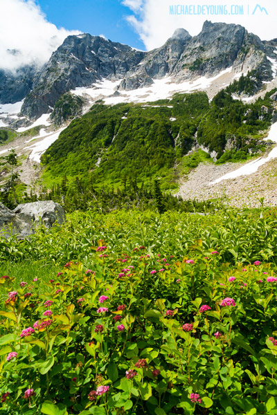 Short break in weather near Suiattle Pass, Glacier Peak Wilderness