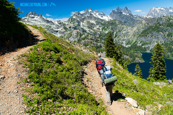 Stevens to Snoqualmie Section hikers Devon and Matt
