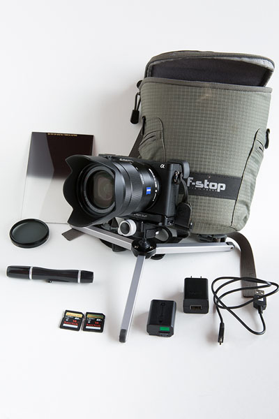 My Sony/Zeiss ensemble for the Pacific Crest Trail