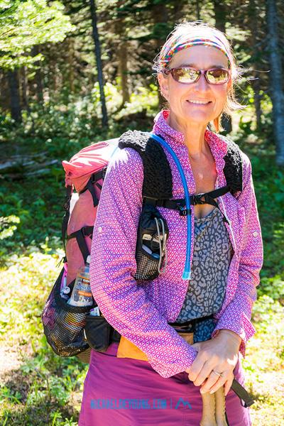 2015 NOBO Thru hiker, CC (Color Coordinated) is hiking the Washington section again this year to see what she missed during rainy weather last year.  In the Norse Peak Wilderness