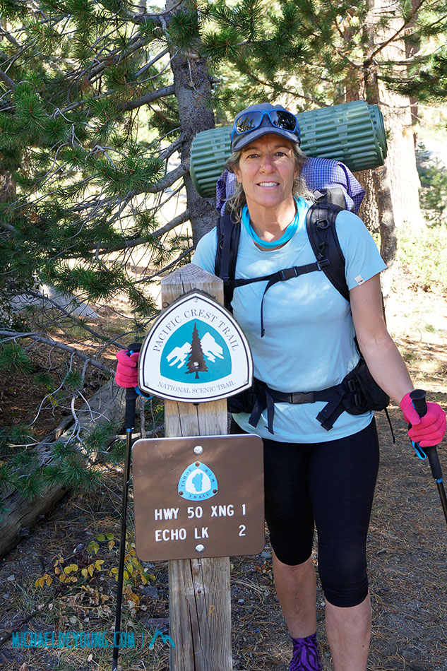 Starting at Echo Summit Trail Head in South Lake Tahoe
