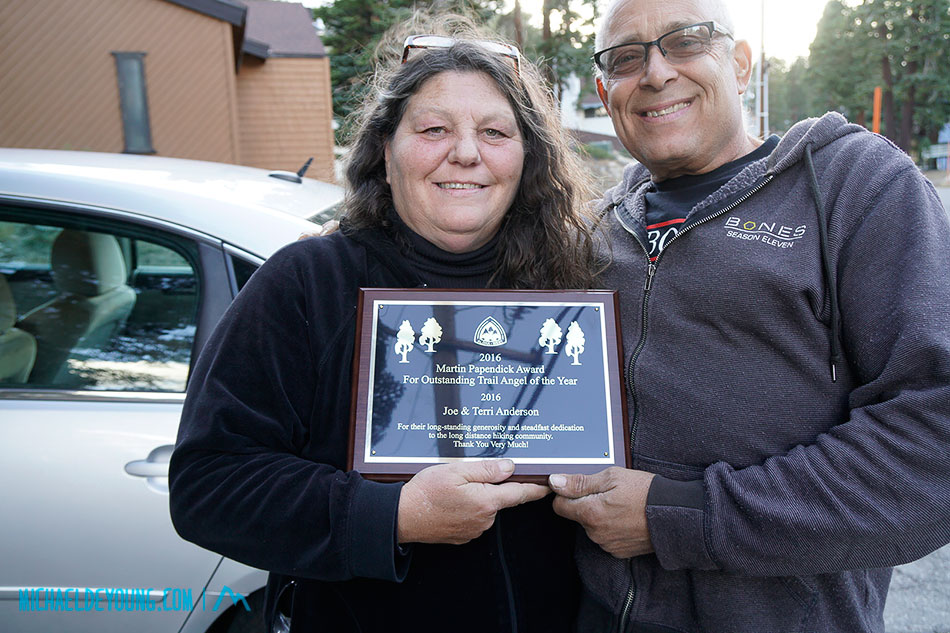 2016 Trail Angels of the Year, Joe and Terri Anderson of Casa de Luna gave us a ride from Lee Vining to the Davidson House Hostel in Mammoth Lakes.