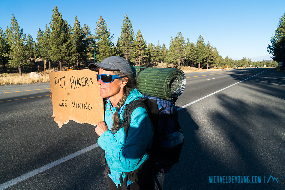 On days when the Eastern Sierra Transit Authority bus was not running, we resorted to hitchhiking