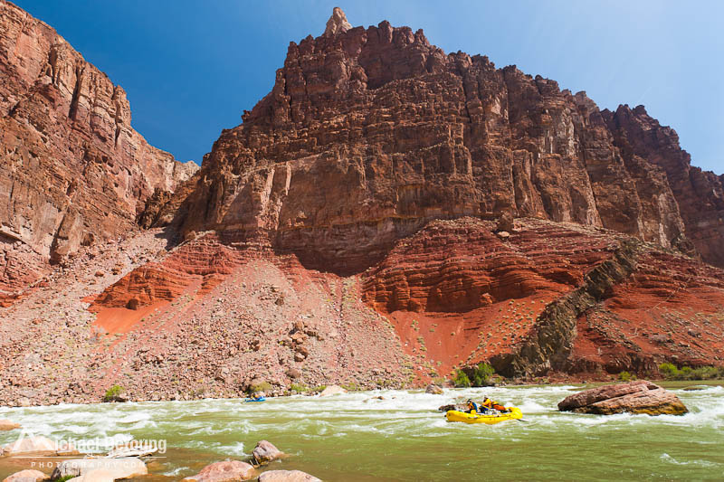 River rafters run Hance Rapids on the Colorado River, Grand Canyon National Park