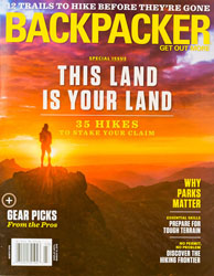 Backpacker Magazine Cover March 2018 - Pacific Crest Trail image taken by Michael DeYoung