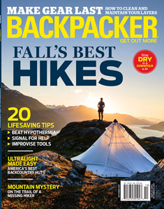 Backpacker Magazine October 2017 Cover