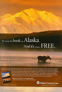 Holland America Print Ad - Moose at Wonder Lake
