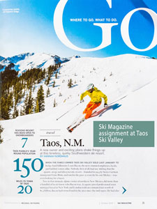 Ski Magazine Section Opener for Taos Ski Valley Feature