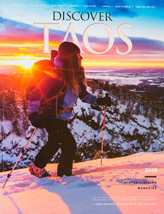 Taos News 2018 Discover Winter Visitor Guide Cover