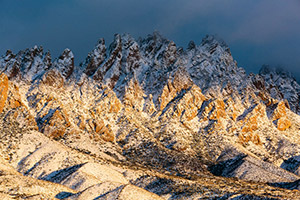 View of Organ Mountains morning after a December snow. Organ Mountains-Desert Peaks National Monument, New Mexico